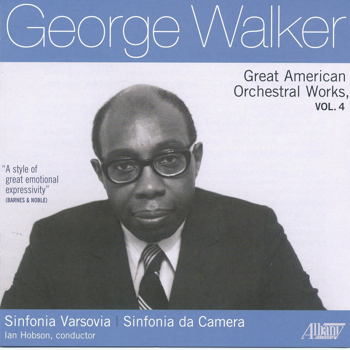 George Walker's Mass, Psalms 96 & 117 by Baltimore Symphony Orchestra;  Brahms' Piano Concerto No. 2, Op. 83 by George Walker, Piano; Albany  Records Troy1447 ...